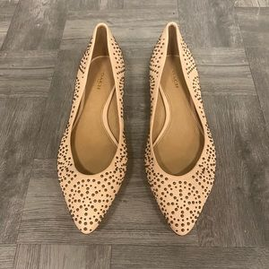 Coach studded ballet pointy leather flats 37.5